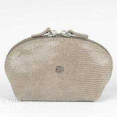 ANACAPRI - Small Leather Cosmetic Case, Vernice Taupe Giudi. $48.00