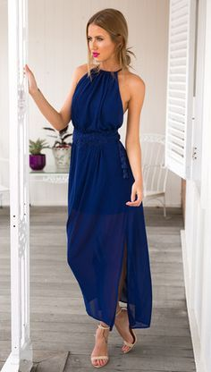 Image result for navy maxi dress