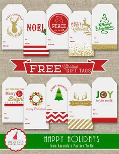 Free Christmas Gift Tag Printables                                                                                                                                                                                 More