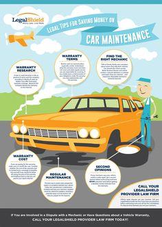 Legal Tips for Saving Money on Car Maintenance - LegalShield