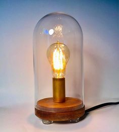 Hey, I found this really awesome Etsy listing at https://www.etsy.com/no-en/listing/545837539/bell-jar-table-lamp-with-edison-bulb