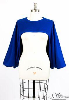 Hey, I found this really awesome Etsy listing at https://www.etsy.com/listing/264399219/oversize-royal-blue-sweatshirt-shrug-one