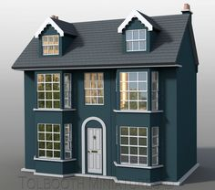 Grove House Dolls House 1:12 Scale - Unpainted Dolls House Kit in Dolls & Bears, Dolls' Miniatures & Houses, Dolls' Houses | eBay