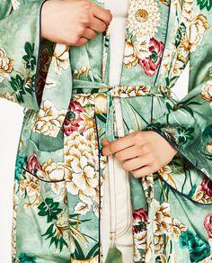 PRINTED KIMONO-Kimonos-OUTERWEAR-WOMAN | ZARA United States