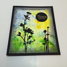 Craft Room Delights by Samantha Wade: Day Three CAS, Tim Holtz Wildflower die with brush...