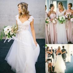 2015 Elegant Lace Wedding Dresses Short Sleeve Beach Bridal Gowns with Backless Sheath/Column V-Neck Appliques Pleated Dresses for Wedding, $117.81 | DHgate.com