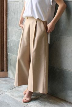Spick and Span Noble(スピック&スパン ノーブル) ≪予約≫バスケットキャンブリックパンツ◆ | スタイルクルーズ Maxi Pants, Pants Outfit, Fashion Pants, Fashion Outfits, Cool Outfits, Casual Outfits, Wide Pants, Pants Pattern, Japanese Fashion