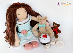 Teddy bear picnic waldorf style doll clothes by APlusJewelryCrafts,  $54.00