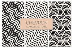 Chevron Seamless Patterns Set 3 by Curly_Pat on @creativemarket