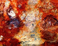 ...textured rust...