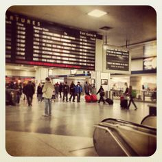 New York Penn Station in New York, NY. I actually miss the craziness...