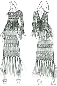 The sketch for @rachelzoe's CFDA dress