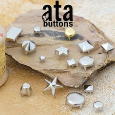 Metal stud accessories are made of brass material and resistant to corrosion. They are used in jacquard labels, coats, and trousers by making designs on the fabric, or they can be used alone for ornamental purposes.   #snapbutton #fashionaccesories #metalstud #metalstudaccessories