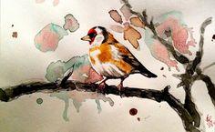 Ink goldfinch