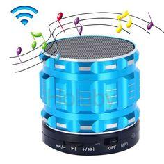 S28  Super Mini Portable Bluetooth Speaker Handfree Mic+TF Card Slot Stereo Metal Speakers for Laptop/PC/MP3/ MP4 Player(Blue)