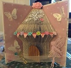 BOOK FOLDING ART FAIRY HOUSE HANDMADE GIFT4 PRESENT