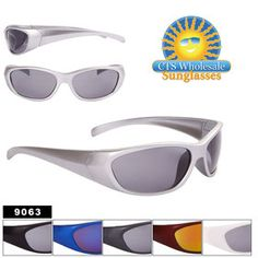9e4f52f699b1 Wholesale Sport Sunglasses - Style #9063 (Assorted Colors) (12pcs.)