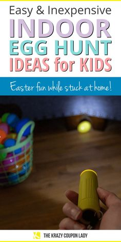 At home and indoor Easter egg hunt ideas are perfect for a rainy holiday or just a safer celebration. Easter stuck at home can still be filled with fun! With COVID still expected to be a worry through the Easter holiday, many traditional kids' egg hunt activities aren't happening. Don't worry, The Krazy Coupon Lady is sharing fun indoor egg hunt ideas for kids (and adults) of any age! Easter Crafts For Kids, Diy For Kids, Easter Ideas, Homemade Crafts, Diy Crafts, Do It Yourself Organization, Plastic Easter Eggs, Coupon Lady, Party Cups