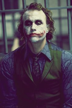 The Joker (Heath Ledger) seriously the best villain ever! One of my favorite movies!