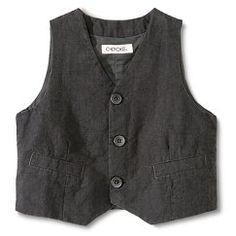 Toddler Boys' Dressy Vest Houndstooth - Grey