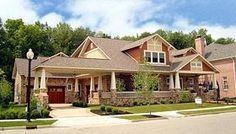 Elevation of Craftsman   House Plan 74417