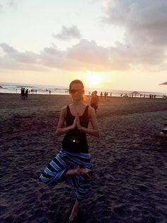 Yoga everywhere beach sunset Bali