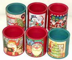 Discover thousands of images about lembrancinha com reciclagem de lata de nescau Tin Can Crafts, Xmas Crafts, Diy Crafts To Sell, Crafts For Kids, Paper Crafts, Metal Crafts, Christmas Projects, Christmas Decorations To Make, Christmas Ornaments