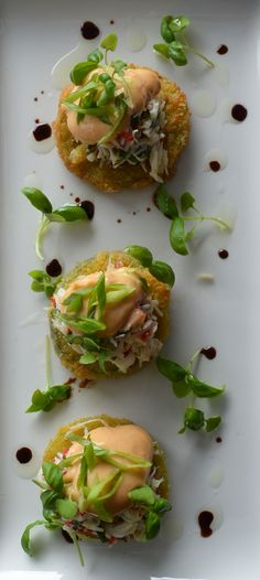 fried green tomatoes with crab remoulade recipes dishmaps fried green ...