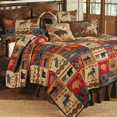 Rustic Lodge Bed Set - King