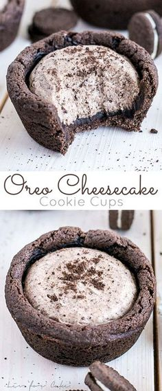 These easy Oreo Cheesecake Cookie Cups are the perfect treat for the Oreo lover in your life! | livforcake.com