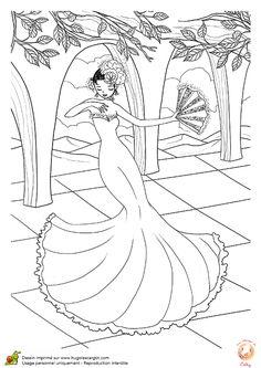 Coloriage Danseuse Flamenco A Imprimer.61 Images Succulentes De Coloriages De Danse Coloring Pages Nice