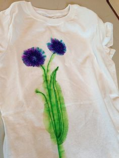 the laurel crowned: DIY Watercolor T-Shirt {using SHARPIES}-using this trick to fix a dress I got at a swap sale!!