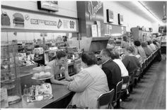 1960's - Toronto - Kresge's lunch counter. ( SE corner of Yonge & Carlton/College) All the lunch counters looked the same.