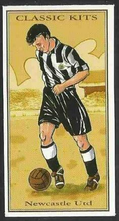 Classic Kits card - Newcastle Utd from the Retro Football, Football Design, Soccer Kits, Football Kits, Football Stickers, Football Cards, Cool Easy Drawings, Newcastle United Football, Bristol Rovers
