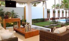 Good idea for nxt project Outdoor Furniture Sets, Decor, Outdoor Decor, House Design, Outdoor Living Design, Modern House, Exterior Design, House Interior, Exterior Decor