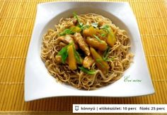 Kínai ananászos csirkemell Okra, Japchae, Cook Books, Meals, Cooking, Ethnic Recipes, Food, Kitchen, Cuisine