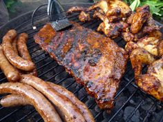 Braai ribs, chicken and boerewors