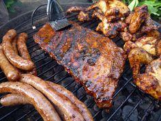 Braai ribs, chicken and boerewors