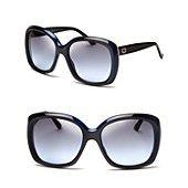 Gucci Oversized Colorblock Stripe Sunglasses