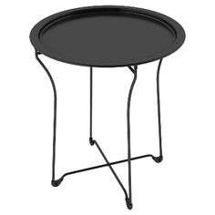 Perfect for the porch Dar Metal Side Table - Black