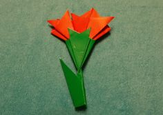 카네이션 접기 만들기 쉬워요 (How to Make A Origami Carnation)