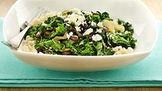 Black Beans and Kale with Feta Cheese