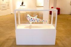 Finn Stone 'The Great White Artist' shark contemporary pop art fibreglass sculpture