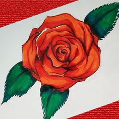 Rose Drawing Simple, Flower Art Drawing, Simple Rose, Simple Flowers, Simple Art, Fun Crafts For Kids, Arts And Crafts Projects, Easy Diy Crafts, Rose Step By Step