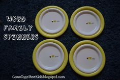 Come Together Kids: Word Family Spinners (from Paper Plates)