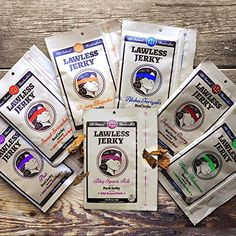 Lawless Jerky Variety Pack The Full Seven, (Pack of 7)
