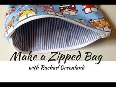 How to make a zipped and lined bag (tutorial) - YouTube