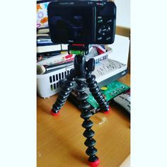 Loving my new #gorillapod Action Tripod going to be filming lots of videos for my Art Channel this year.   #art #photography #saturday #studio #artists #love #75artstreet #photooftheday #instaart #shopping #jessops #nikon #coolpix #tripod