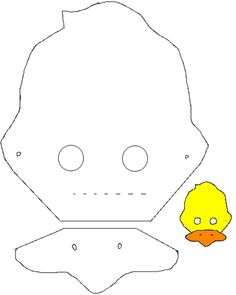 masque canard Costume Canard, Preschool, Projects To Try, Snoopy, Baby Shower, Symbols, Costumes, Crafty, Sewing