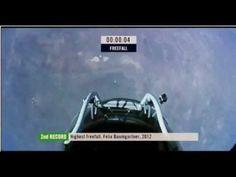 Felix Baumgartner freefall from the edge of space w/ New World Record: 128 000 Ft! [ full ]